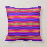 colorful purple yellow stripes pillows