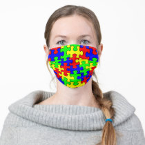 Colorful Puzzle Adult Cloth Face Mask