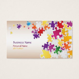 Colorful Puzzle Business Card