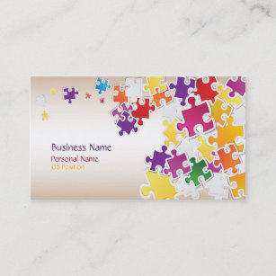 Puzzle business cards zazzle colorful puzzle business card colourmoves