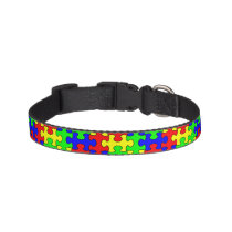 Colorful Puzzle Dog Collar