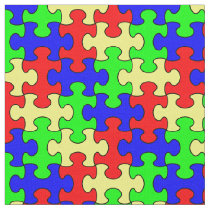 Colorful Puzzle Fabric