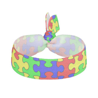 Colorful Puzzle Hair Tie
