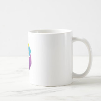 Colorful puzzle in a cube classic white coffee mug