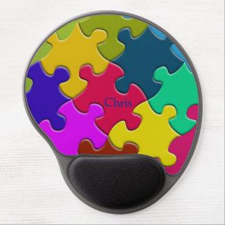 Colorful Puzzle Novelty Monogram Gel Mousepad