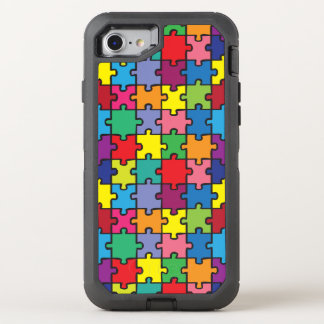 Colorful Puzzle Pattern Autism Awareness ASD OtterBox Defender iPhone 8/7 Case