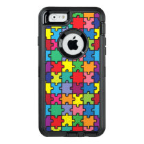Colorful Puzzle Pattern Autism Awareness ASD OtterBox Defender iPhone Case