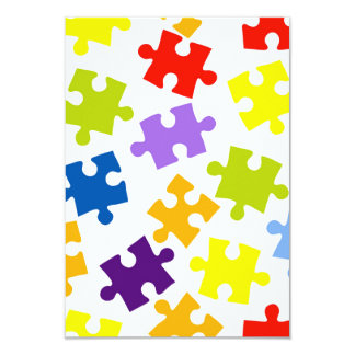 Colorful puzzle pattern card