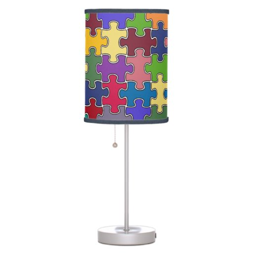 Zazzle colorful puzzle pieces Table Lamp