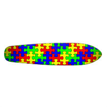 Colorful Puzzle Skateboard