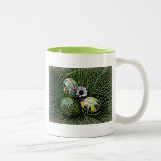 Colorful Pysanky Two-Tone Coffee Mug