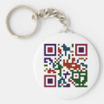 Colorful QP Code Keychain