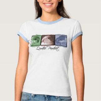 Colorful Quaker Parakeet Women's Ringer Teeshirt T-shirts