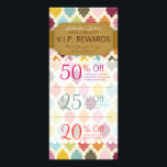 """Colorful Quatrefoil Custom Salon Coupons Specials Rack Card<br><div class=""""desc"""">This stylish rack card features 3 Coupons on the front and salon info on the back, including a list of services. All info can be edited to suit your business needs, including Coupon amounts and details. Perfectly personalized promotional materials for hairdressers, hair salons, spas and other companies in the beauty...</div>"""