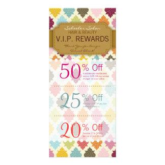Colorful Quatrefoil Custom Salon Coupons Specials Rack Cards