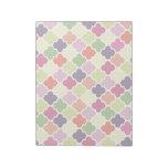 Colorful quatrefoil pattern memo notepads
