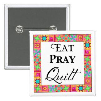 Colorful Quilt Blocks Border Art Eat Pray Quilt Buttons