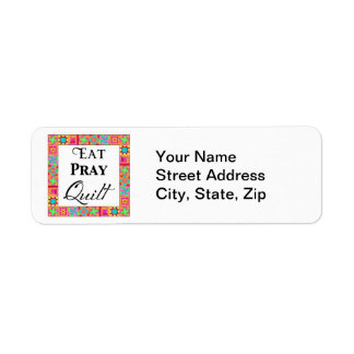 Colorful Quilt Blocks Border Art Eat Pray Quilt Label