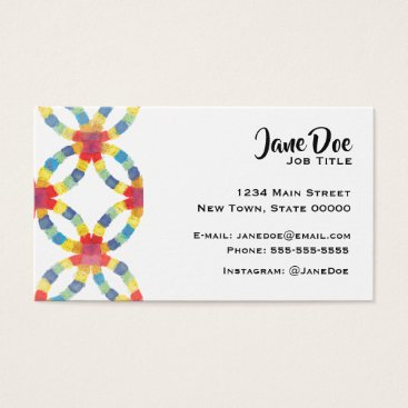 Professional Business Colorful Quilt Business Card