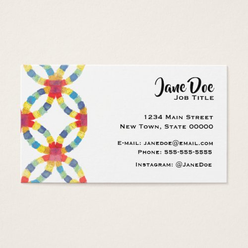 Colorful Quilt Business Card