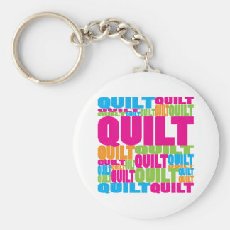 Colorful Quilt Keychain