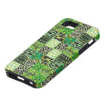 Colorful Quilt Of Abstract Patterns-Green Tint iPhone 5 Cover