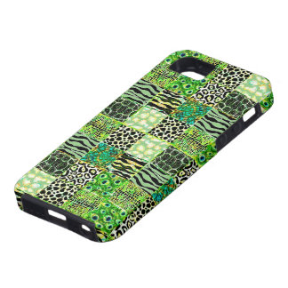 Colorful Quilt Of Abstract Patterns-Green Tint iPhone SE/5/5s Case