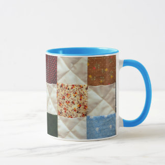 Colorful quilt pattern coffee mug
