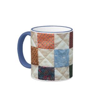 Colorful quilt pattern coffee mug