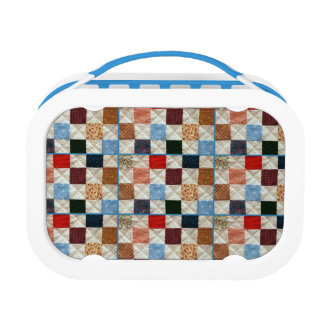 Colorful quilt pattern lunchbox