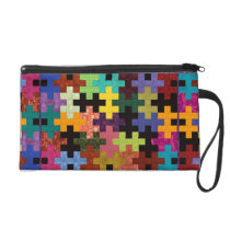 Colorful Quilt Pattern Wristlet