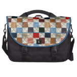 Colorful quilt squares pattern bag for laptop