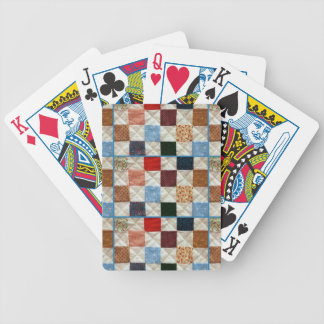 Colorful quilt squares pattern bicycle poker cards