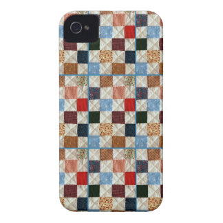 Colorful quilt squares pattern iPhone 4 cover