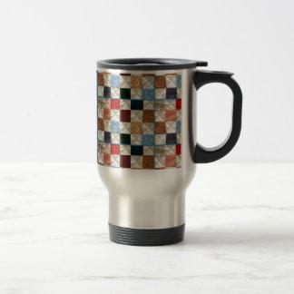 Colorful quilt squares pattern mug