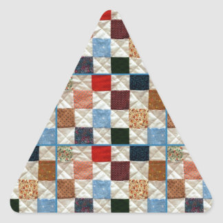 Colorful quilt squares pattern triangle sticker