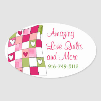 Colorful Quilting Business Custom Sticker