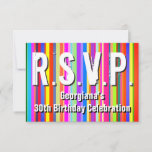 "[ Thumbnail: Colorful ""R.S.V.P."" Card ]"