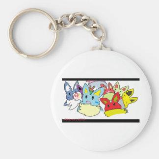 Colorful Rabbit Crew Keychain