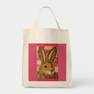 Colorful Rabbit Grocery Tote Bag