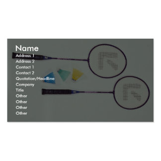 Colorful racquets and birds Double-Sided standard business cards (Pack of 100)