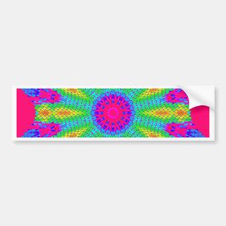 Colorful Radial Pattern: Bumper Sticker