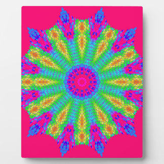 Colorful Radial Pattern: Plaque