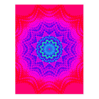 Colorful Radial Pattern: Postcard