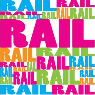 Colorful Rail Photo Sculpture Ornament