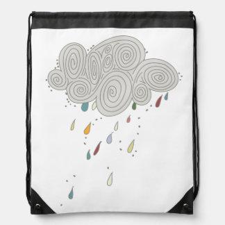 Colorful Rain Cloud Drawstring Backpack