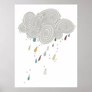 Colorful Rain Cloud Poster