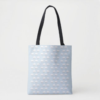 Colorful rain tote bag