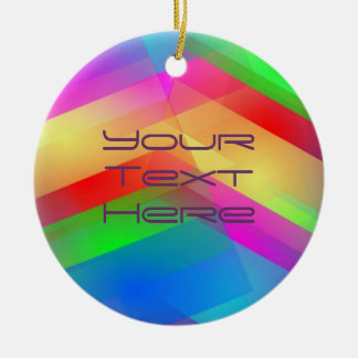 Colorful Rainbow Abstract Double-Sided Ceramic Round Christmas Ornament