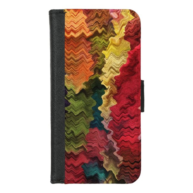 Colorful Rainbow Abstract iPhone 8/7 Wallet Case